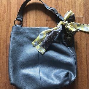 Silver Coach Handbag
